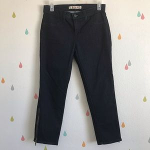 J Brand Mystique dark wash zipper crop jeans